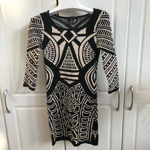 Forever 21 Knit Tribal Print Sweater Dress size S